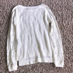 Abercrombie & Fitch Sweaters - White glitter A&F sweater
